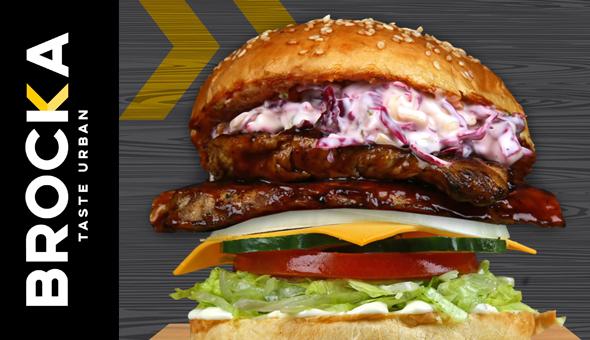 BROCKA Rondebosch: Gourmet Burgers and Hand Cut Fries for 2 People!