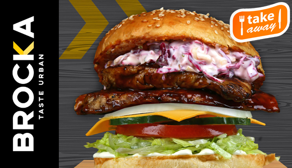 Takeaway: Gourmet Burgers and Hand Cut Fries for 2 People at BROCKA Rondebosch!