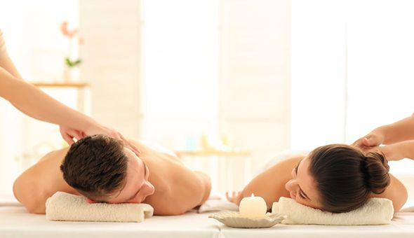 Luxury Couples Spa Package with Beverages and Dinner at Avara Boutique Day Spa, Dolphin Beach Hotel!