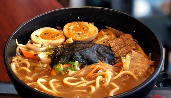 A 2-Course Asian Dining Experience for 2 People at Akiya Sushi, Century City! Dine on the likes of Beef Ramen, Salmon Roses, Prawn Egg Fried Rice & More!
