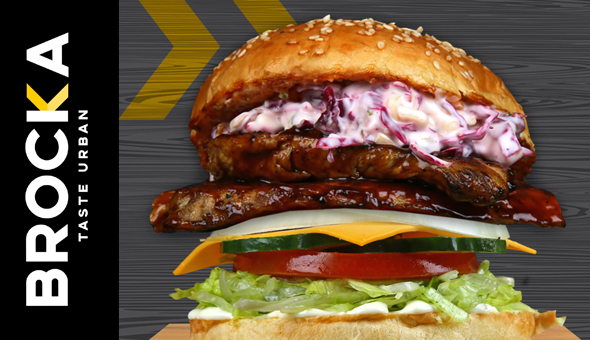 Gourmet Burgers with Hand Cut Fries for 2 People at BROCKA Rondebosch or Canal Walk!