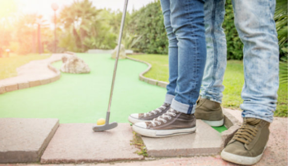 Mini-Golf Fun for up to 4 People at Cave Golf, V&A Waterfront!