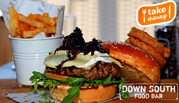 180g Gourmet Beef Burgers with Fries and Gourmet Milkshakes for 2 People at Down South Food Bar, Rondebosch - Sit Down or Take Away!