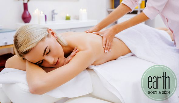 A Luxury Spa Package at Earth, Body & Skin, Claremont! Includes: A Relaxing Body Massage, Luxury Organic Facial and a Deep Relaxation Head Massage!