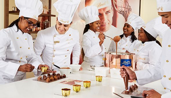The World-Famous Lindt Chocolate Studio: The Lindt Supreme Dark Chocolate Soufflé Making Class for 2 People!