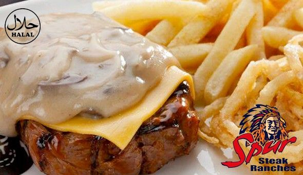Rodeo Spur (Halaal): A 3 Course Feast for 2 People at only R299! Dine on the likes of; Spur's Famous Beef Ribs, Cheddamelt Steak, Buffalo Wings, Cheesy Garlic Prawn Hake, Classic Waffle, Cheesecake & More!