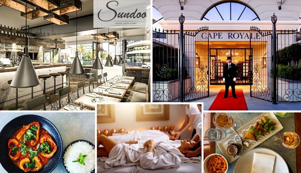 Couples Luxury: Gourmet Lunch for 2 at Sundoo in Sea Point and a Luxury Couples Spa Experience!