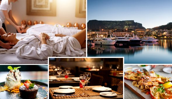 Couples Spa Luxury, Seafood Dining & Decadent Desserts for 2 People!