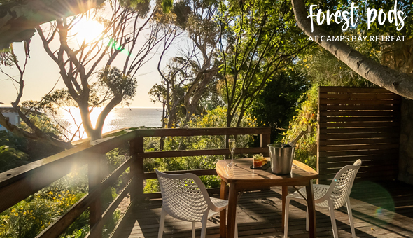 Forest Pods at Camps Bay Retreat: A 2 Night Stay for 2 People in an Ocean View Forest Pod, including Breakfast and a Luxury Couples Spa Treatment!