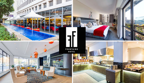 A 1 Night Stay for 2 People in a Superior Room, including Buffet Breakfast at The 4-Star Fountains Hotel, Cape Town!