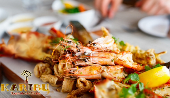 A Seafood Platter for 2 People at The Award-Winning Karibu Restaurant, V&A Waterfront!