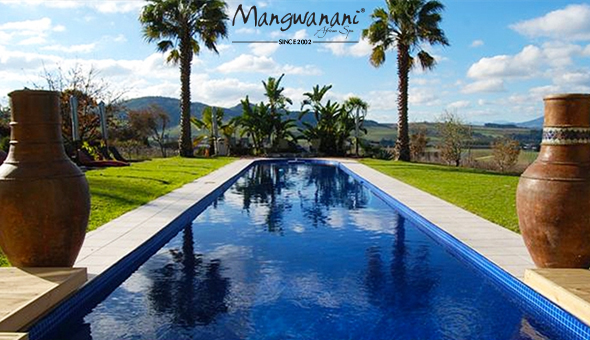 The Luxury Moonlight Night Spa Package at Mangwanani African Spa Winelands. Includes: a Cocktail on Arrival, Light Snacks, 3 Luxury Spa Treatments, Dinner, Desserts, Beverages & More!