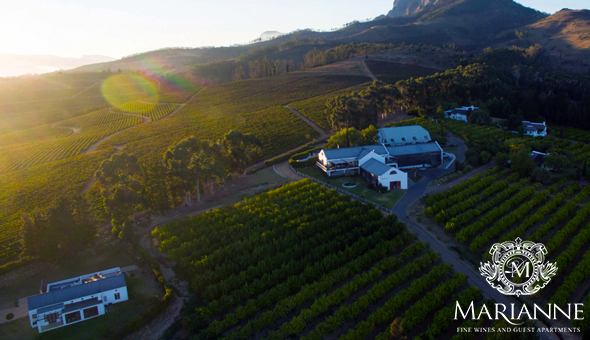 A 2 Night Stay for 2 People, including Breakfast, a Bottle of Wine & Chocolates and an Exclusive Boutique Wine Experience with a Wine Tasting at Marianne Wine Estate, Stellenbosch!