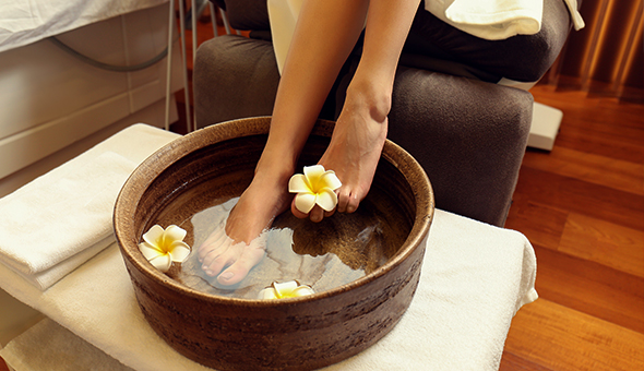 A Full Pedicure at Nude Beauty, Century City!