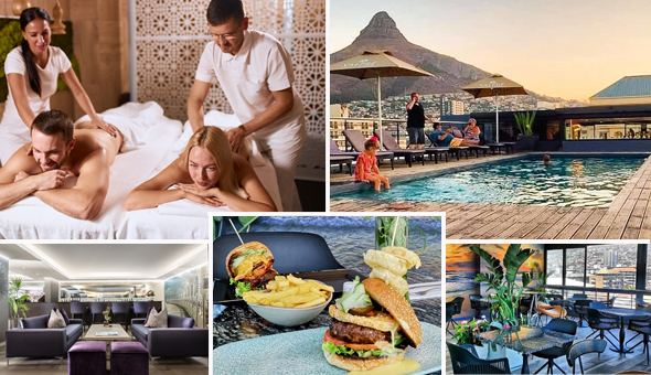 Couples Half Day Spa Package with Gourmet Breakfast or Lunch at The Purple Orchid Spa, located at The 4-Star Hyde Hotel, Sea Point!