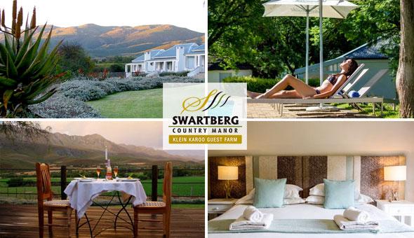 Magical Getaway for 2 People in a Luxury Room, including Breakfast at Swartberg Country Manor in Oudtshoorn!